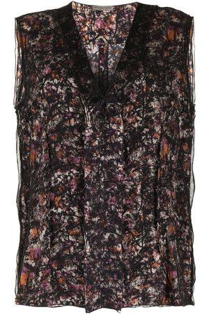 Bottega Veneta Abstract pattern sleeveless top