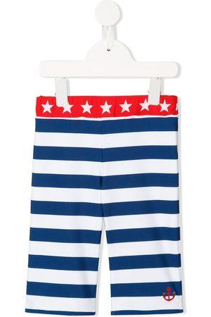 Miki House Striped swim shorts