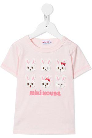 Miki House Bunny logo print T-shirt