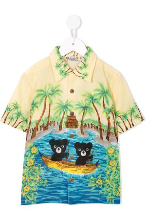 Miki House Teddy print shirt