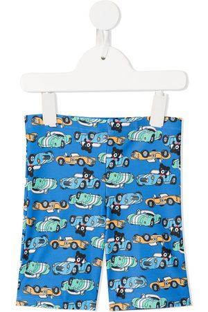 Miki House Graphic print swim shorts