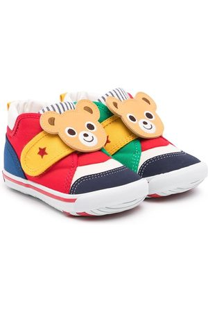 Miki House Boys Sneakers - Touch-strap teddy sneakers