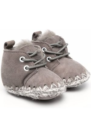Mou Knitted stitch detail boots