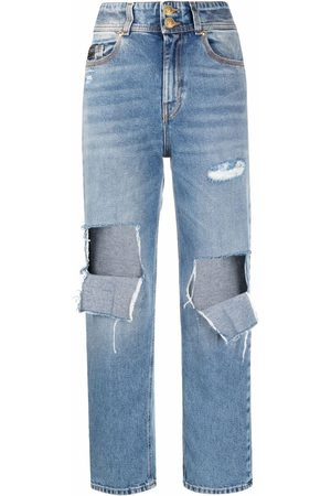 VERSACE Ripped-detail jeans