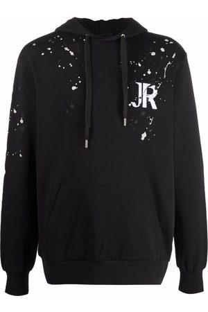 John Richmond Men Jumpers - Paint splatter-print pullover hoodie