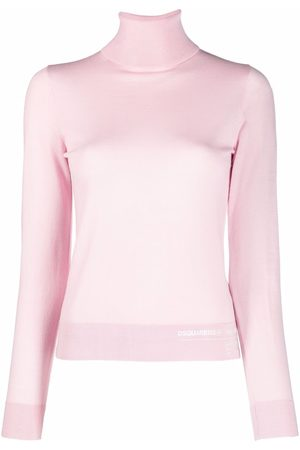 Dsquared2 Women Jumpers - Logo-print knitted high neck jumper