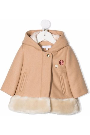 Chloé Baby Coats - Hooded wool-felt coat