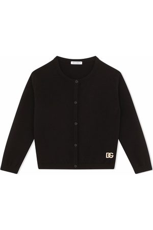 Dolce & Gabbana Rhinestone logo cardigan