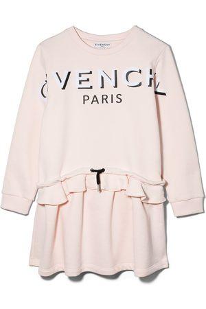 Givenchy Logo print drawstring waist dress