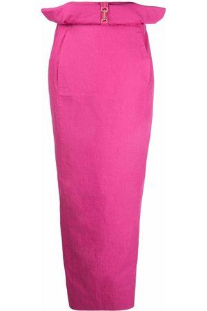 Jacquemus Bow-detail maxi skirt