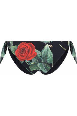 Dolce & Gabbana Rose-print bikini bottoms