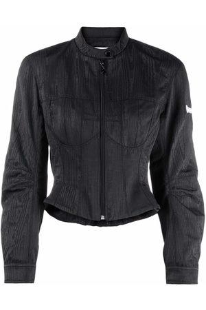 Marine Serre Bustier-style cropped jacket