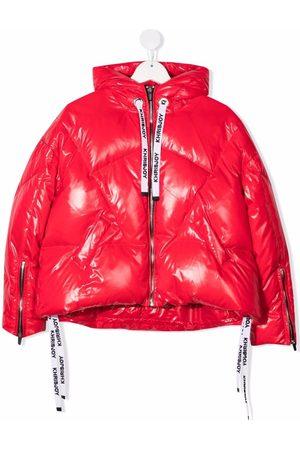Khrisjoy KIDS Girls Jackets - Metallic puffer hooded jacket