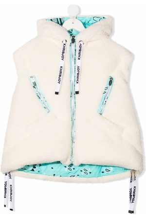 Khrisjoy KIDS Girls Camisoles - Puffer faux-shearling hooded vest