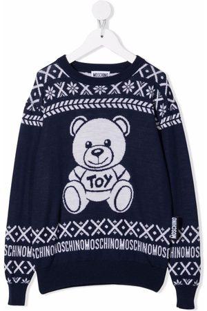 Moschino Boys Jumpers - Teddy bear-motif wool jumper
