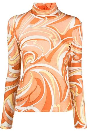 Emilio Pucci Abstract print lightweight high-neck top