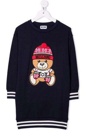 Moschino Logo knit jumper dress