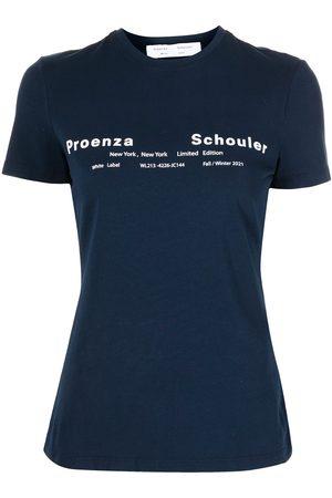 PROENZA SCHOULER WHITE LABEL Logo-print short-sleeve T-shirt
