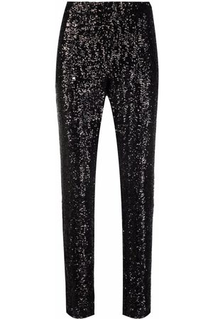 Les Hommes Women Stretch Pants - Stretch-fit sequin embellished trousers
