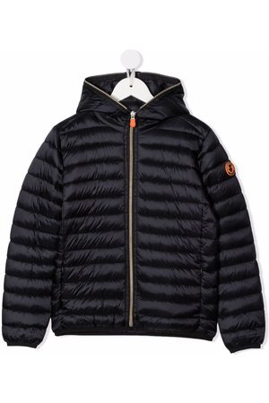 save the duck Logo-patch padded jacket