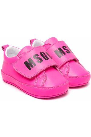 Msgm Logo-print touch-strap sneakers