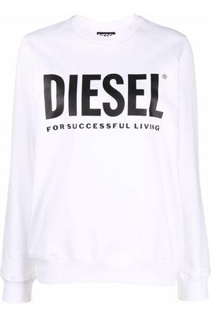 Diesel Women Sweatshirts - Logo-print cotton sweatshirt