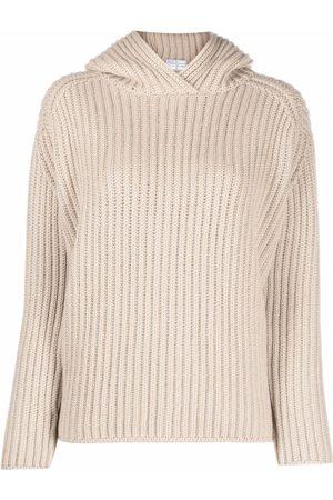 FEDELI Women Jumpers - Rib-knit hooded jumper