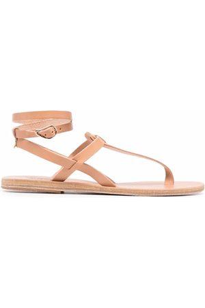 Ancient Greek Sandals Women Sandals - Estia T-bar leather sandals
