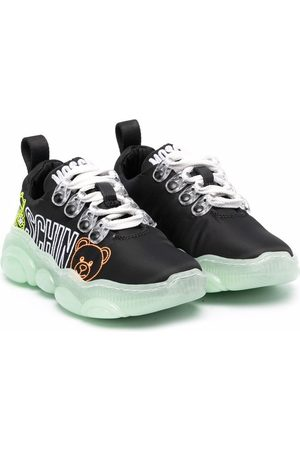Moschino Boys Sneakers - Side logo-print sneakers