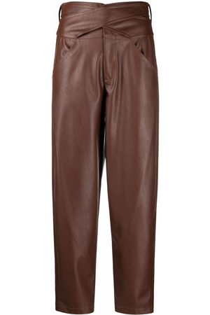 Pinko High-waisted cropped trousers