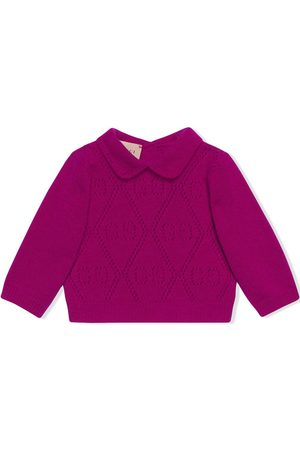Gucci Baby Jumpers - GG-motif perforated jumper