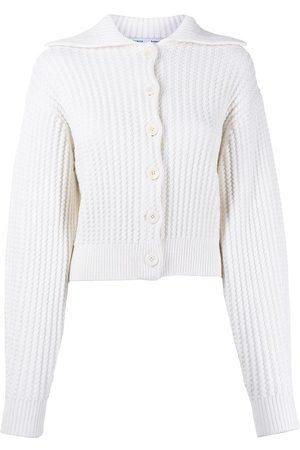 PROENZA SCHOULER WHITE LABEL Waffle-knit cardigan