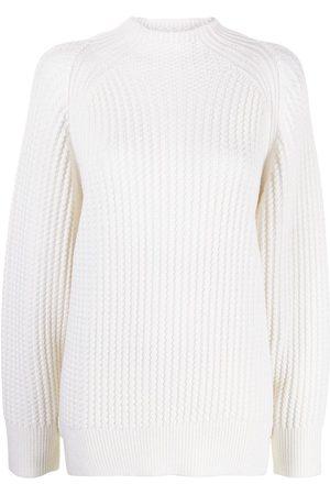 PROENZA SCHOULER WHITE LABEL Ribbed knit mock-neck jumper