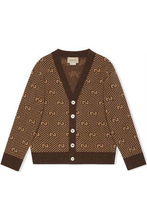 Gucci Baby Cardigans - GG stripe wool cardigan