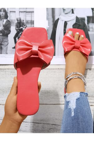 YOINS Women Casual Shoes - Casual Bowknot Square Toe Slippers
