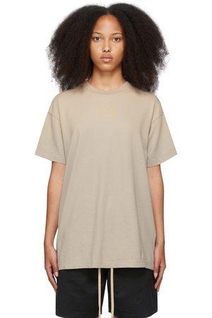 Women Short Sleeve - Fear of God Beige 'FG' T-Shirt