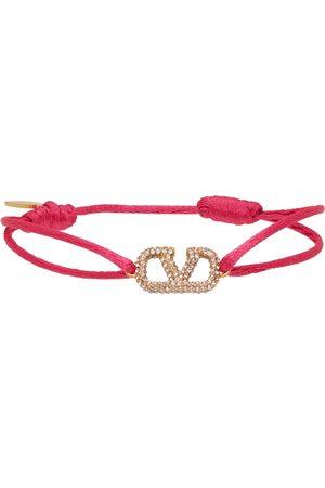 Valentino Garavani Crystal VLogo Bracelet