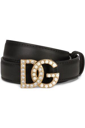 Dolce & Gabbana Women Belts - Logo-plaque studded belt