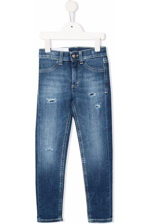 Dondup Girls Skinny - Distressed skinny-cut jeans