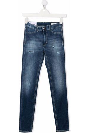 Dondup TEEN distressed slim-cut jeans
