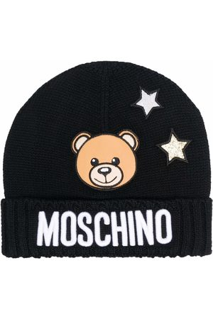 Moschino Star-embroidered logo-patch beanie