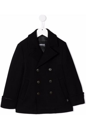 Dondup Boys Coats - Double-breasted knitted coat