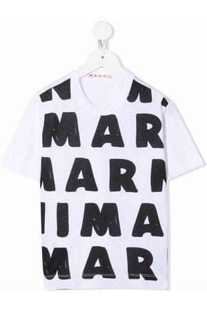 Marni Girls Short Sleeve - Logo-print cotton T-shirt