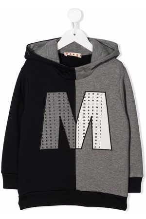 Marni Colour-block logo patch hoodie