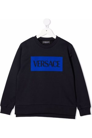 VERSACE Boys Sweatshirts - Logo-print cotton sweatshirt