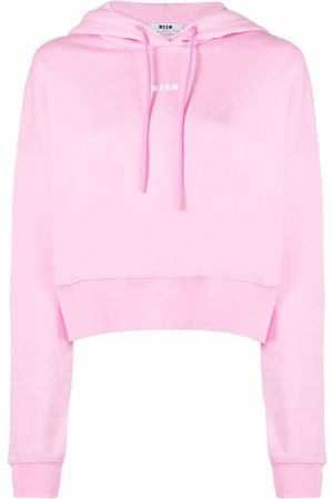 Msgm Women Hoodies - Logo-print hoodie