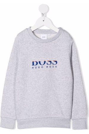 HUGO BOSS Boys Sweatshirts - Logo-print rib-trimmed sweatshirt