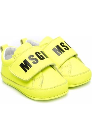 Msgm Logo-print eco-leather trainers