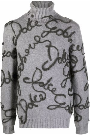 Dolce & Gabbana Men Jumpers - Logo-appliquéd roll neck jumper