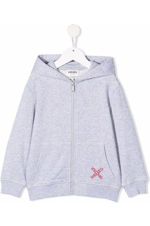 Kenzo Cross logo zip-front hoodie